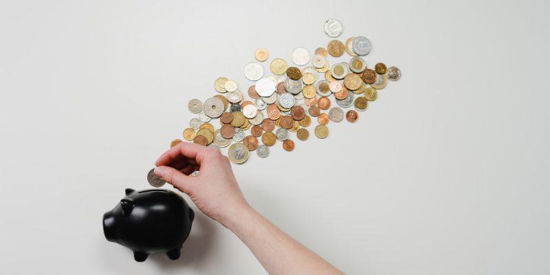 skarbonka i monety